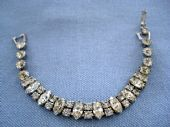 1950's  American  Designer Diamante Bracelet signed WEISS (SOLD)